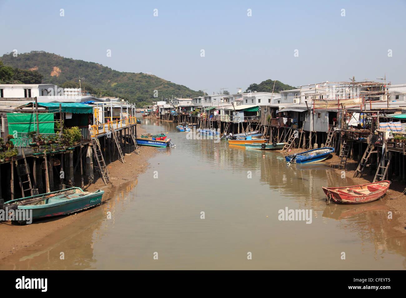 Stilt Houses, Tai O fishing village, Lantau Island, Hong Kong, China, Asia - Stock Image