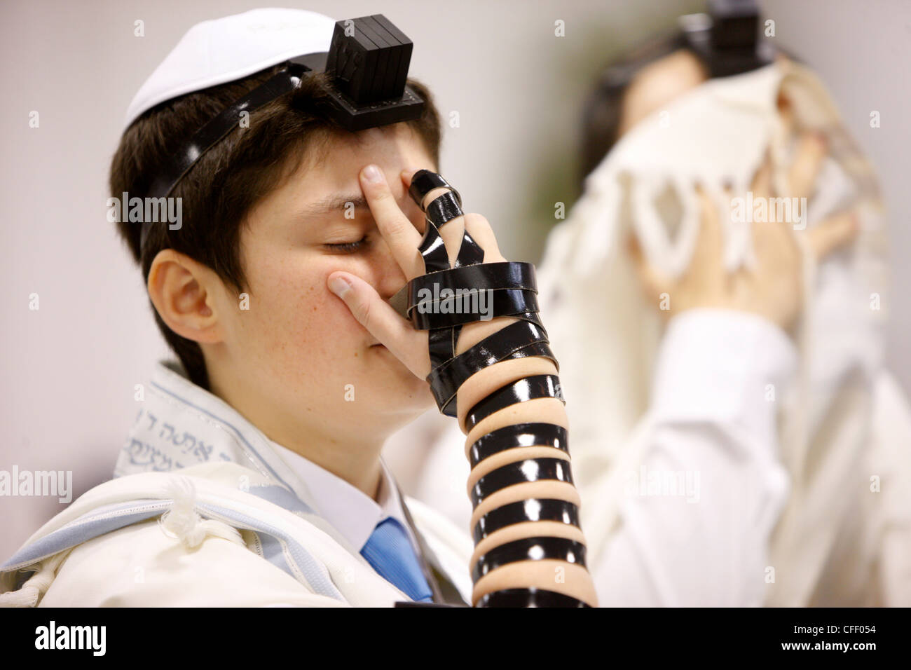 Bar Mitzvah in a synagogue, Paris, France, Europe - Stock Image