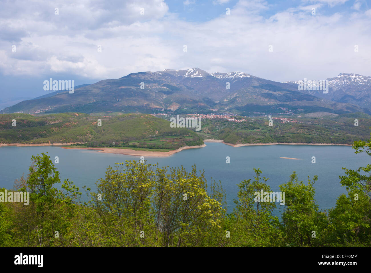 Artificial lake in the Mavrovo National Park, Macedonia, Europe - Stock Image