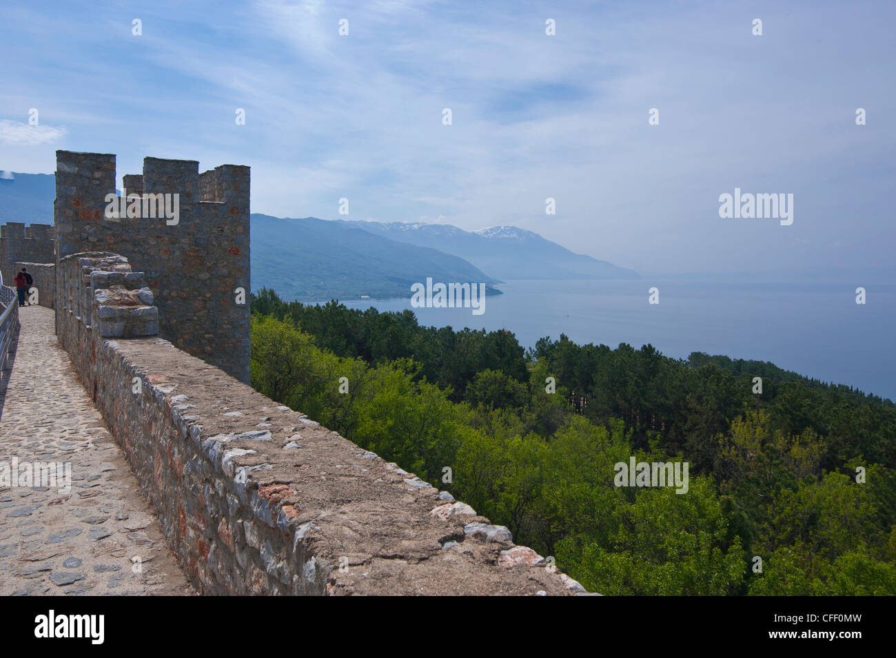 Castle at Ohrid,Lake Ohrid, UNESCO World Heritage Site, Macedonia, Europe - Stock Image