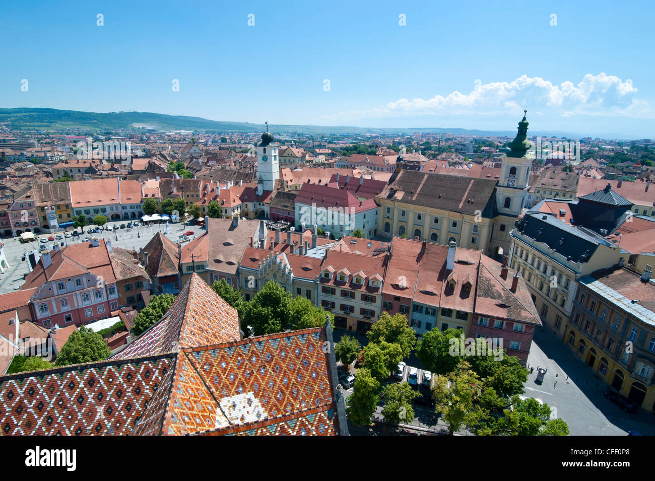 City skyline, Sibiu, Romania, Europe - Stock Image