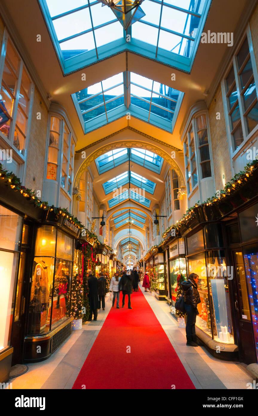Burlington Arcade at Christmas, Piccadilly, London, England, United Kingdom, Europe - Stock Image