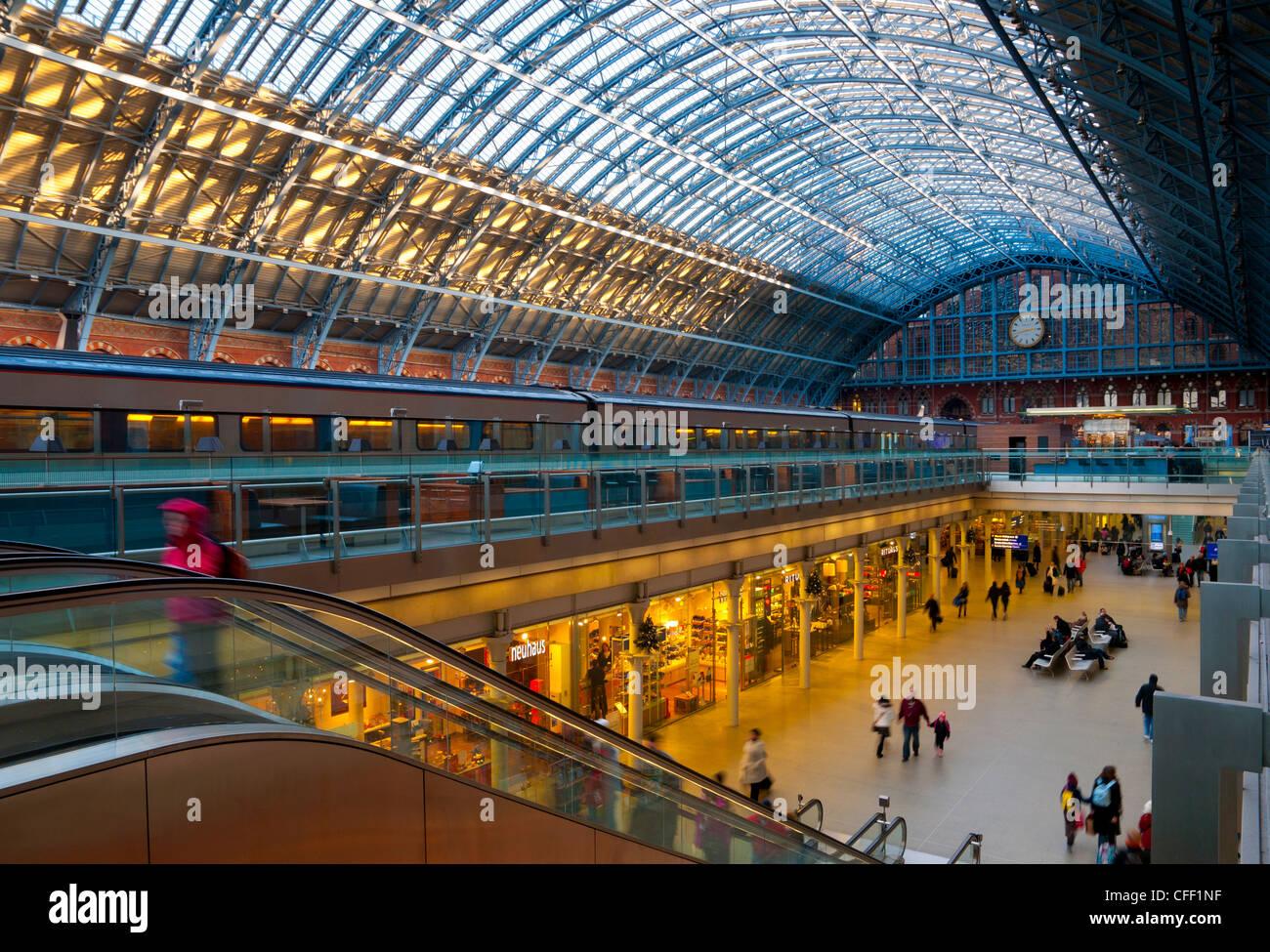 St. Pancras Station, London, England, United Kingdom, Europe - Stock Image