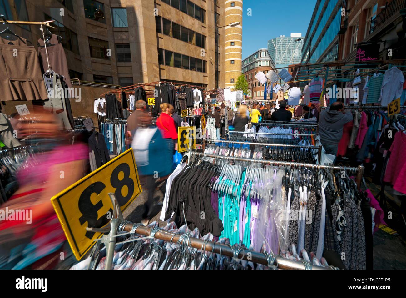 Petticoat Lane Market, The East End, London, England, United Kingdom, Europe - Stock Image
