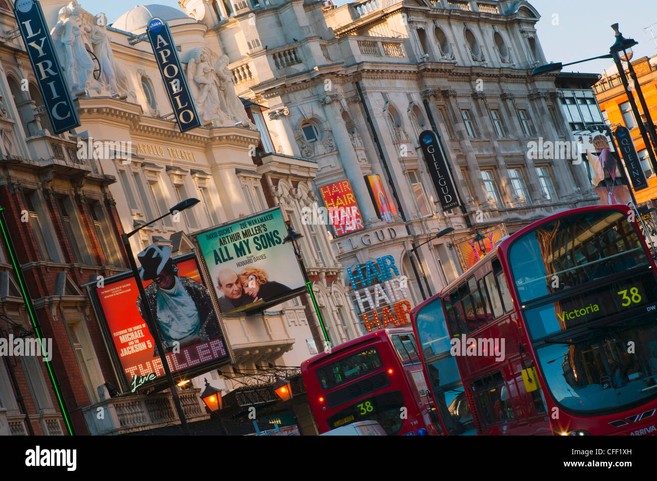 Theatreland, Shaftesbury Avenue, London, England, United Kingdom, Europe - Stock Image