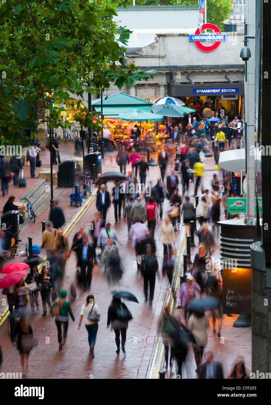 Embankment station, London, England, United Kingdom, Europe - Stock Image