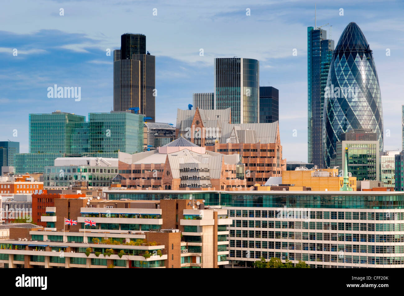The City of London from City Hall, London, England, United Kingdom, Europe - Stock Image