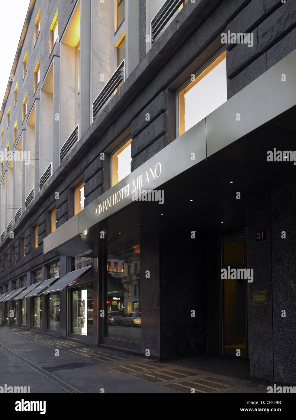 Armani Hotel Milano In 2019: Armani Hotel Milano Stock Photos & Armani Hotel Milano