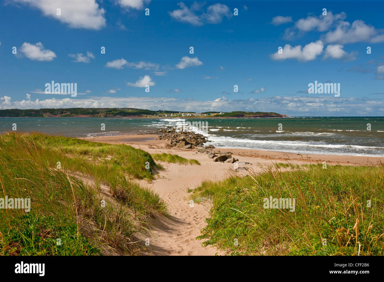 View from Port Hood Beach towards Port Hood Island, Cape Breton, Nova Scotia, Canada - Stock Image