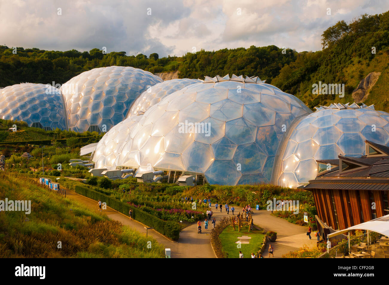 Eden Project near St. Austell, Cornwall, England, United Kingdom, Europe - Stock Image