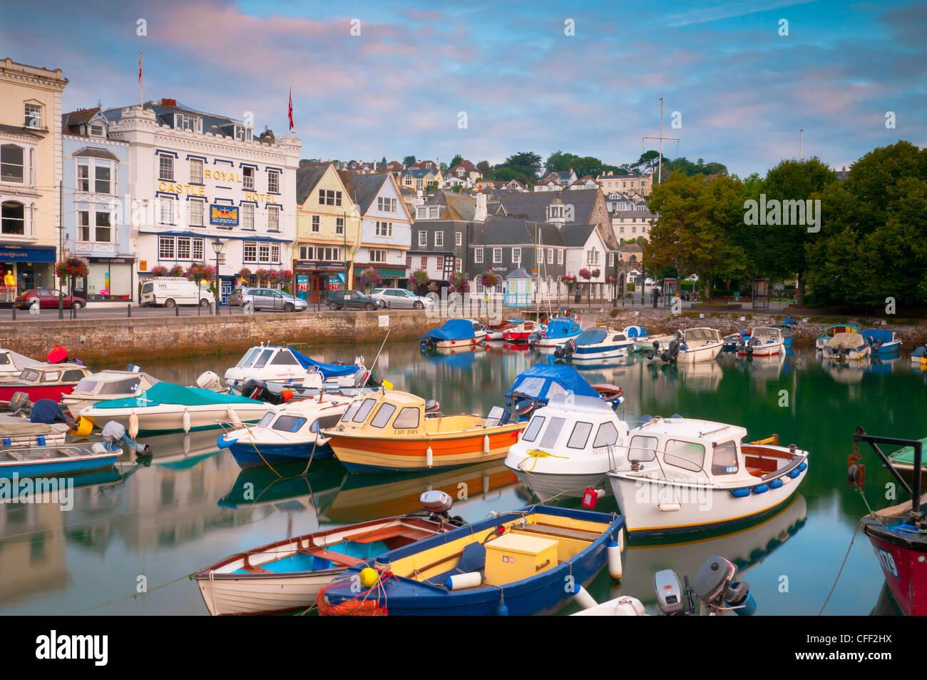 The Quay, Dartmouth, Devon, England, United Kingdom, Europe - Stock Image