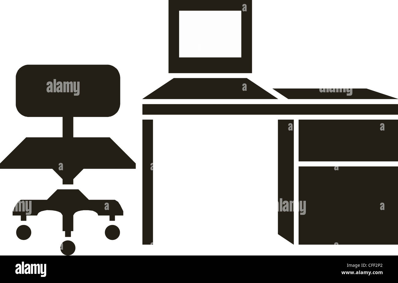 Fantastic Abstract Vector Illustration Of Office Furniture Stock Photo Download Free Architecture Designs Embacsunscenecom
