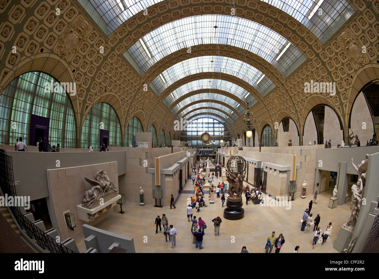 Great Hall of the Musee D'Orsay Art Gallery and Museum, Paris, France, Europe - Stock Image