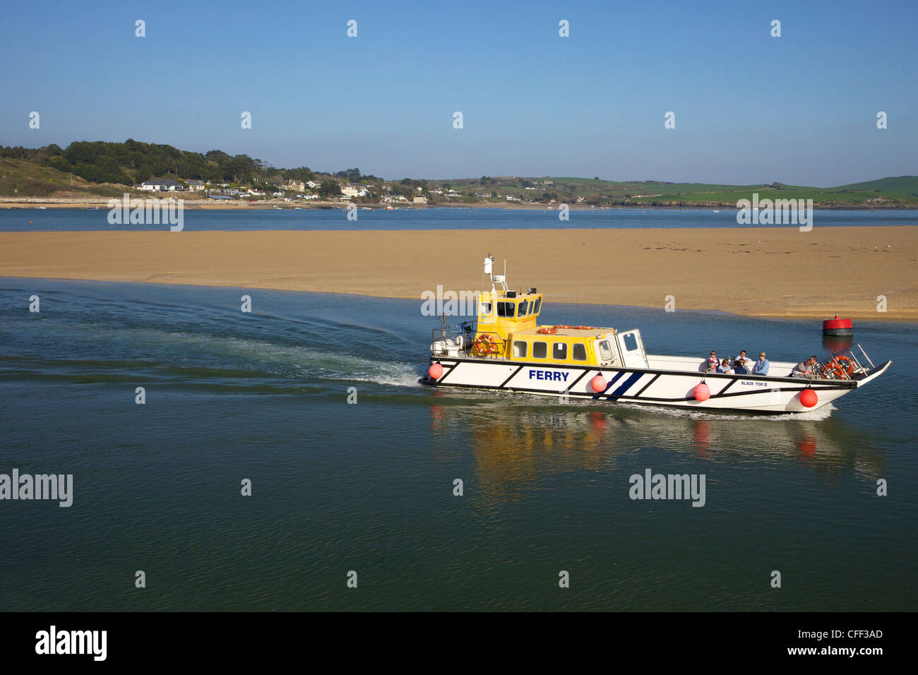 Padstow to Rock Ferry, Camel Estuary, North Cornwall, England, United Kingdom, Europe - Stock Image