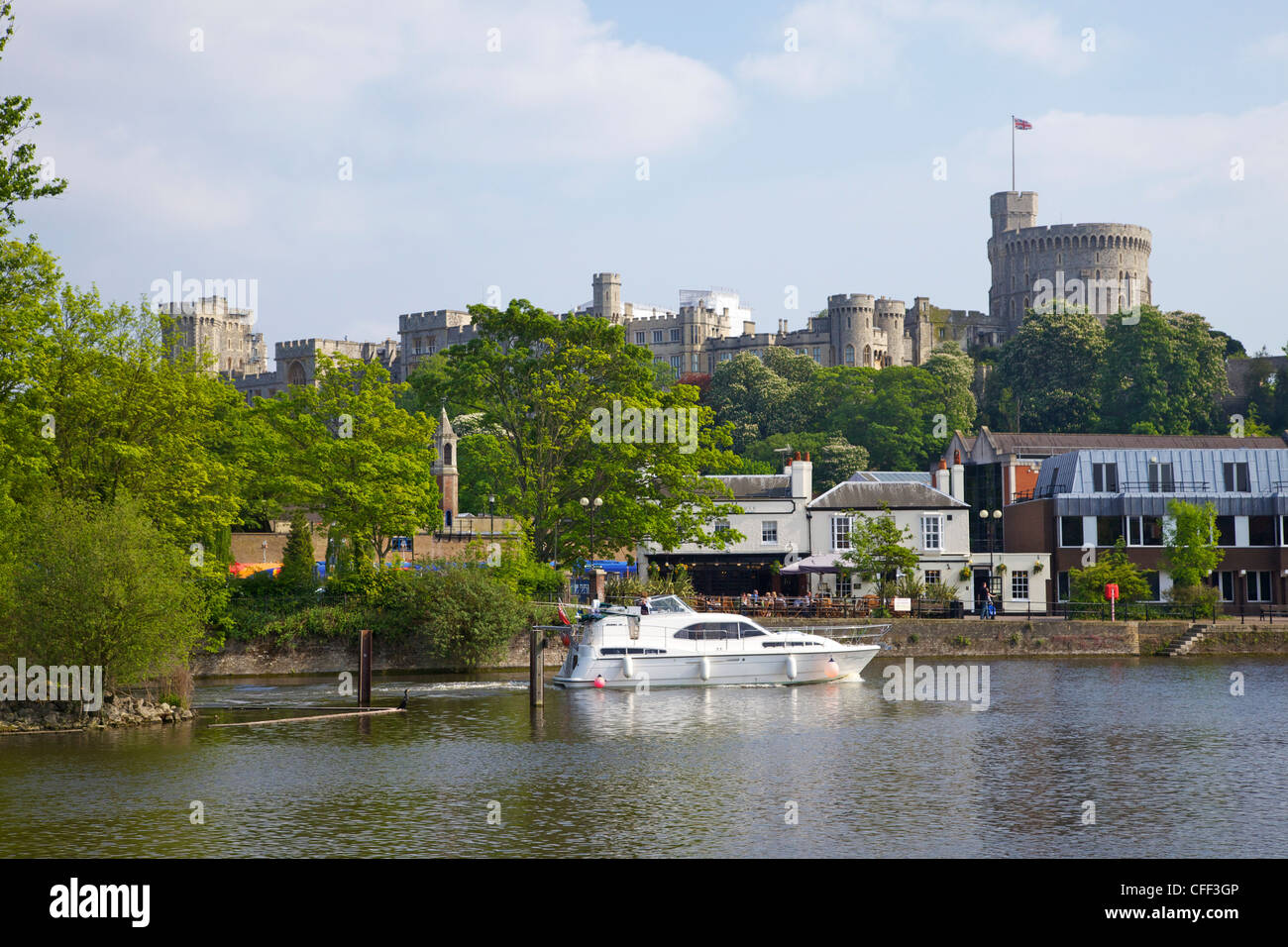 River Thames and Windsor Castle, Windsor, Berkshire, England, United Kingdom, Europe - Stock Image