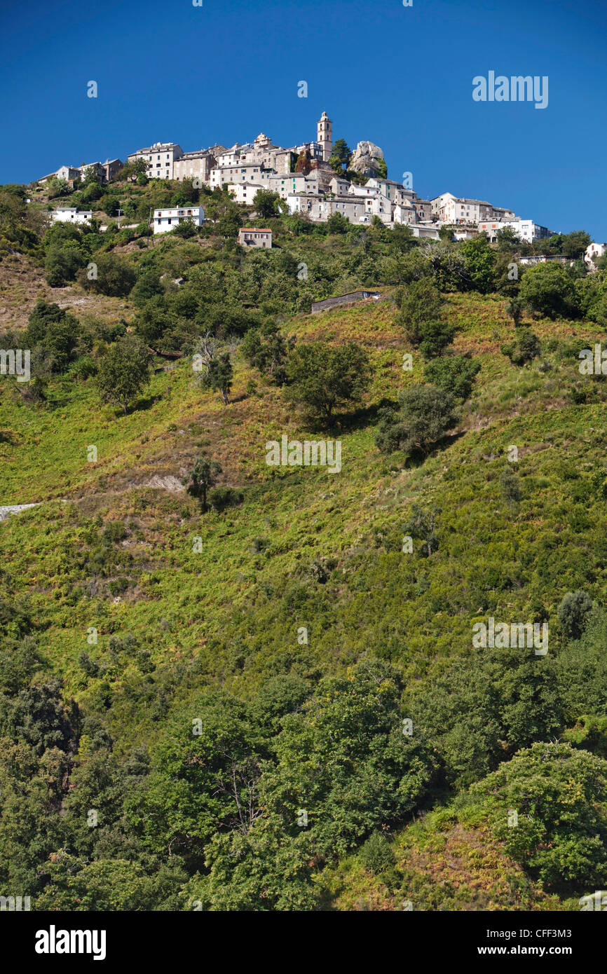 Loreto di Casinca, city view, Casinca, Corsica, France - Stock Image