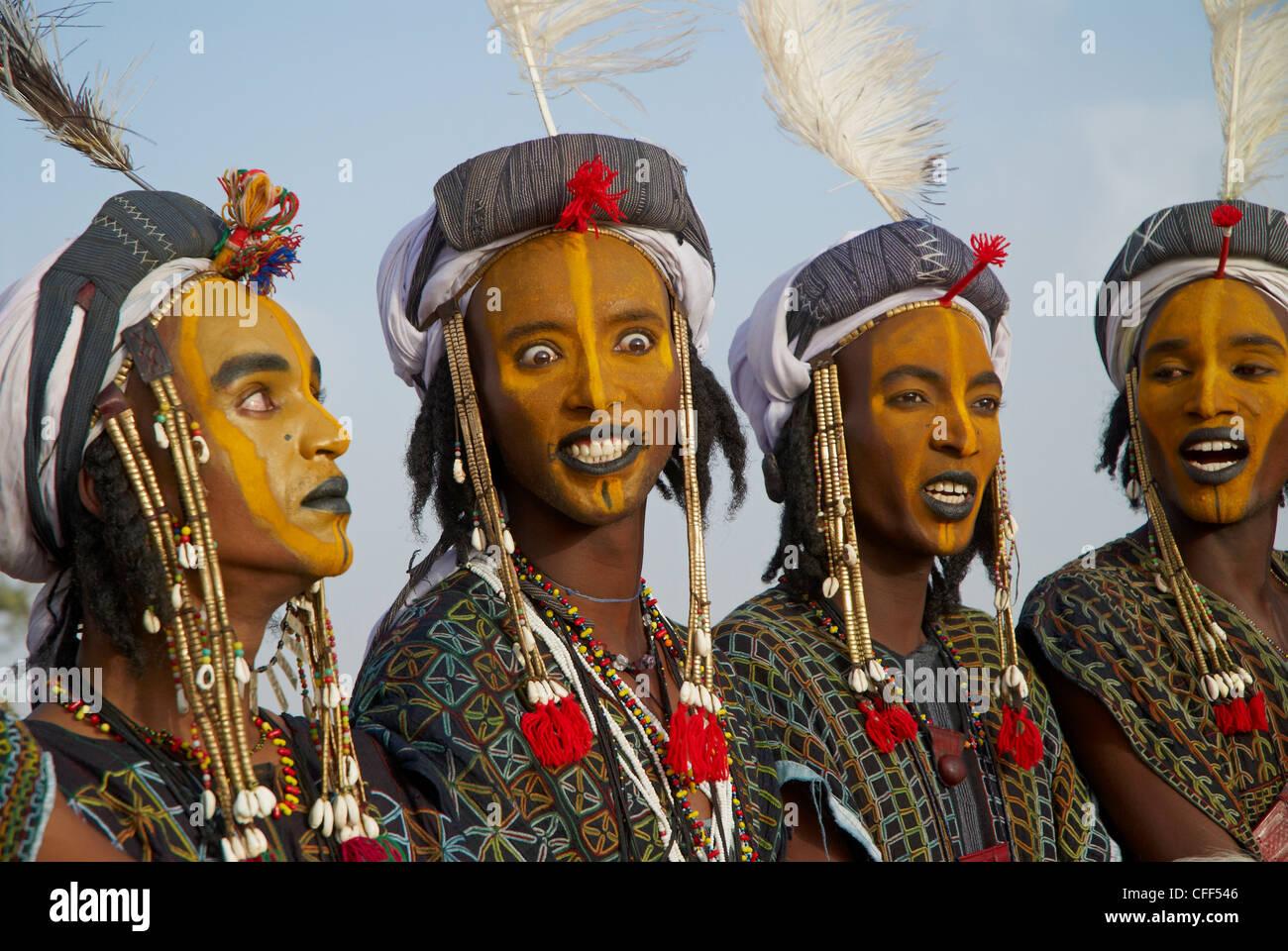 Wodaabe Bororo Men At The Annual Gerewol Male Beauty