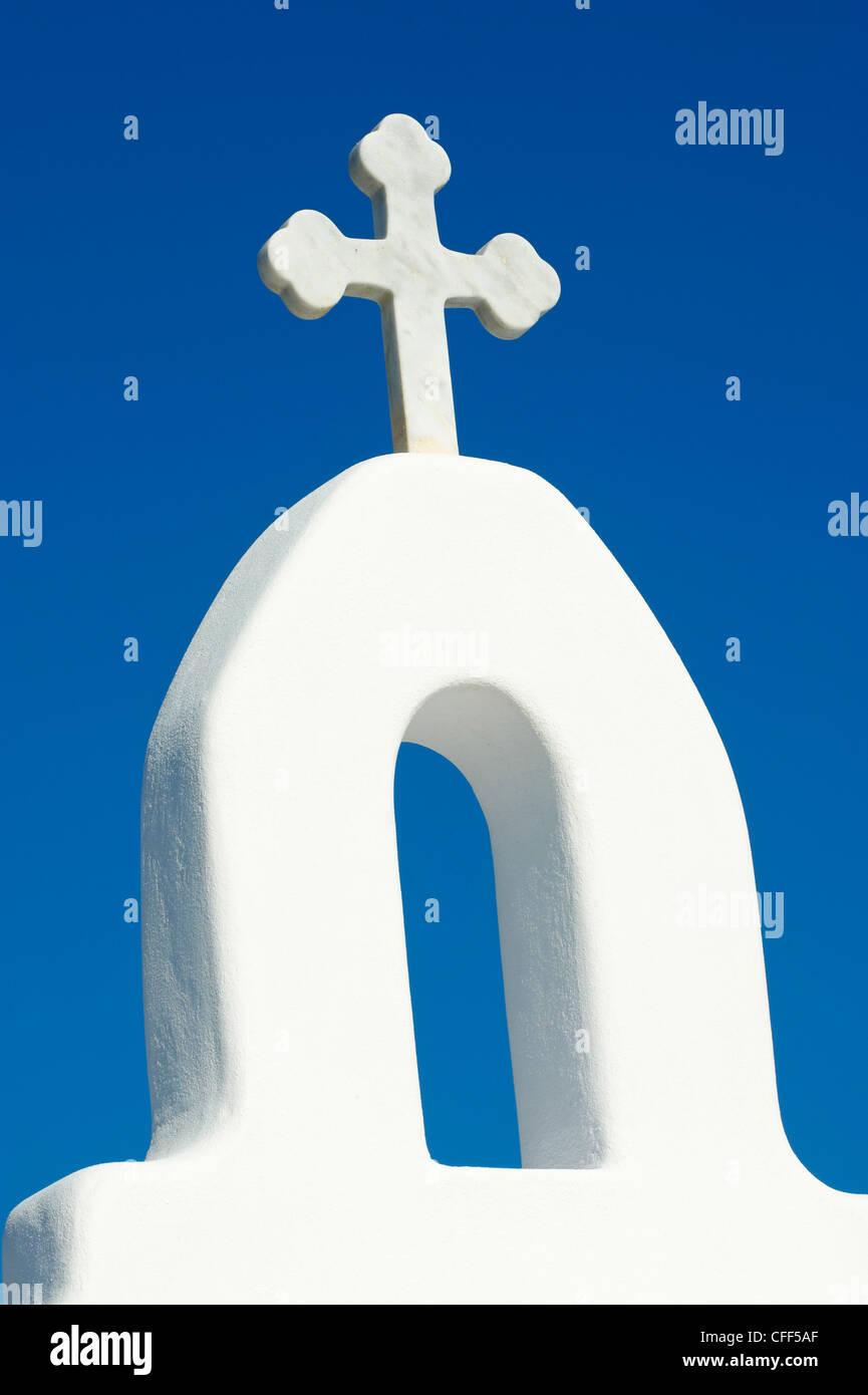 Agios Sostis chapel, Panormos bay, Mykonos island, Cyclades, Greek Islands, Greece, Europe - Stock Image