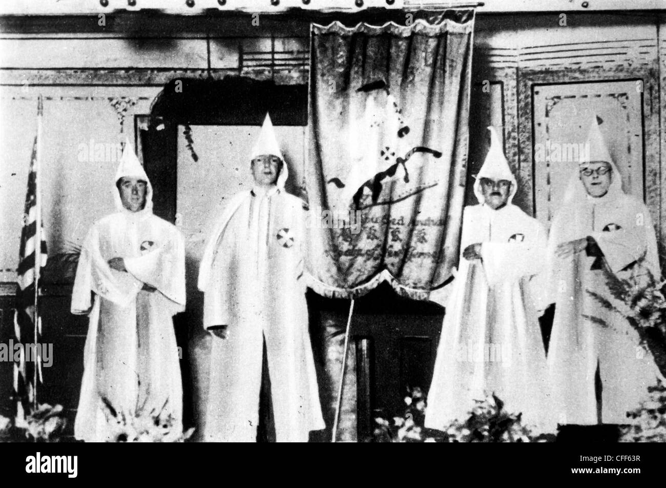 A ceremony of the Ku Klux Klan,kkk,usa,1920 - Stock Image