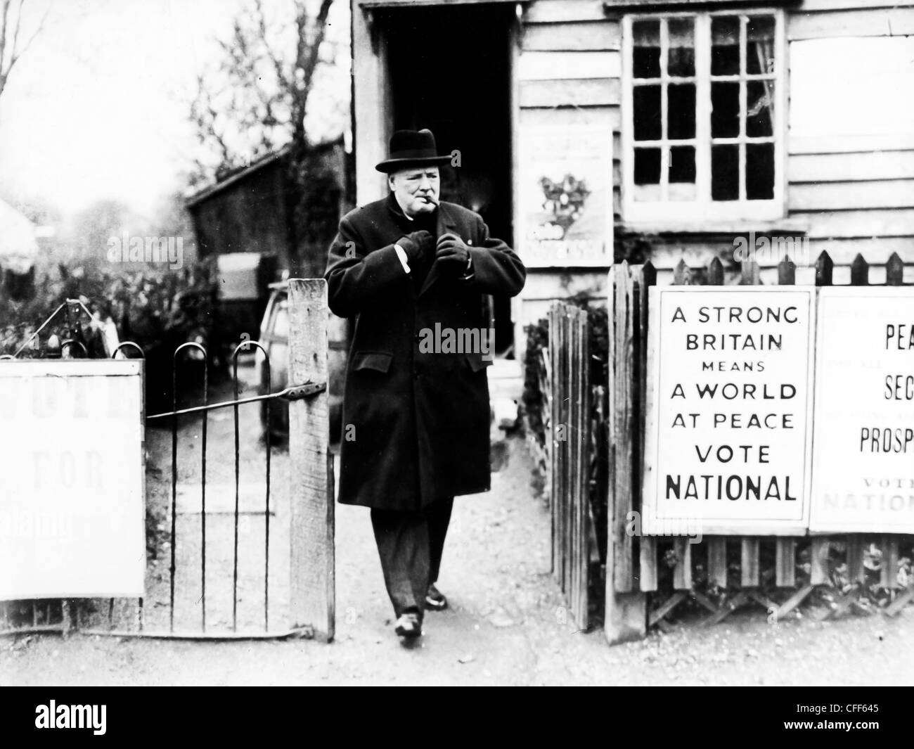 Minister Churchill during the election campaign,London,1935 - Stock Image