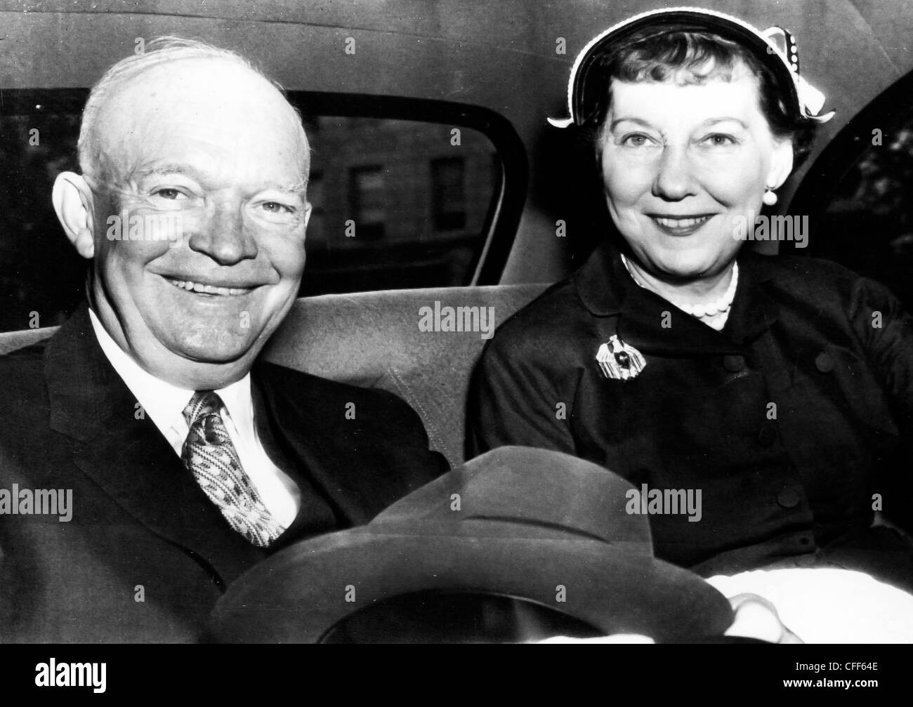 Dwight D. Eisenhower and his wife,1956 - Stock Image