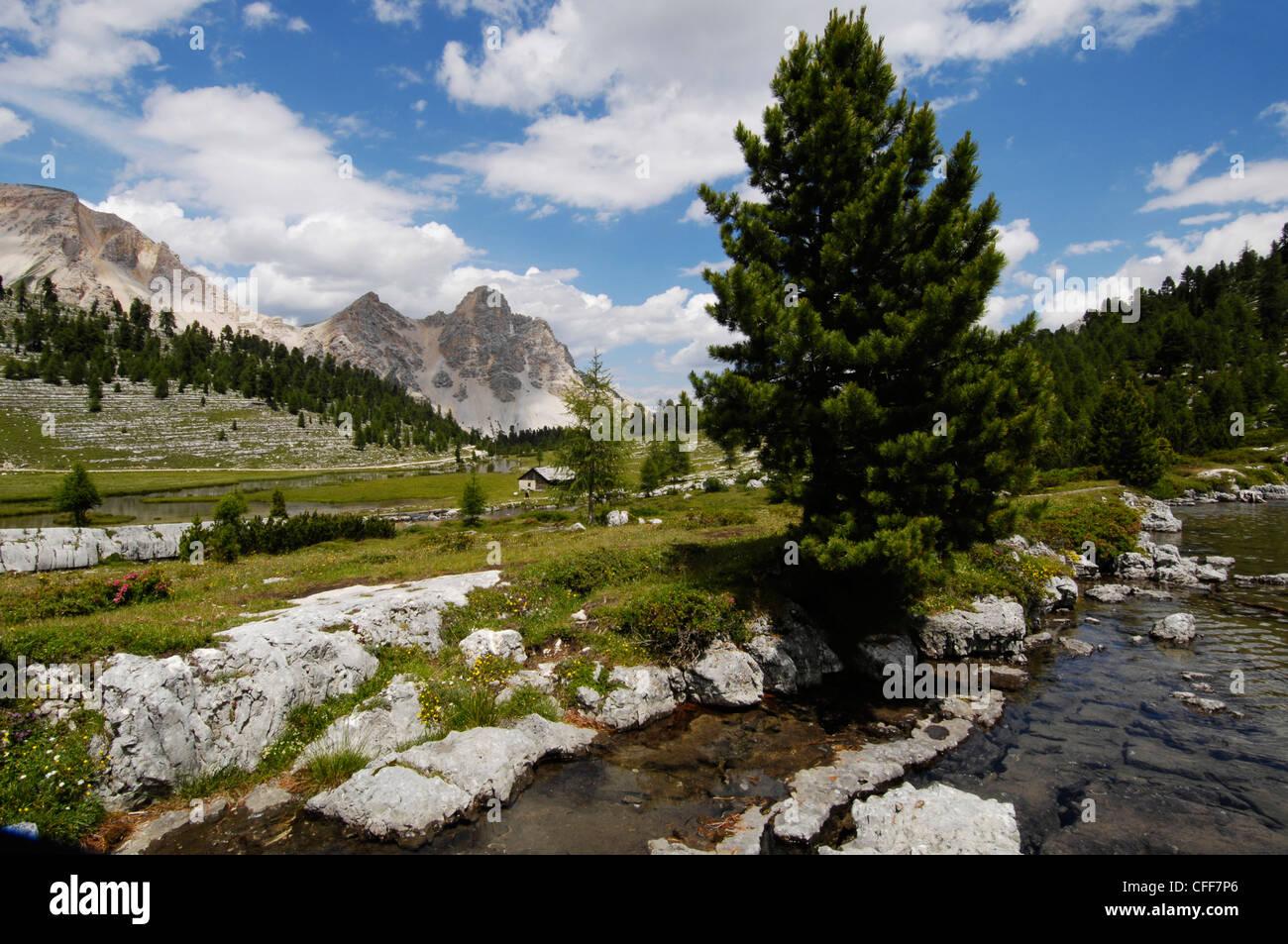 Fanes alp, Gader Valley, Nature Reserve Park Fanes Sennes Prags, Alto Adige, South Tyrol, Italy Stock Photo