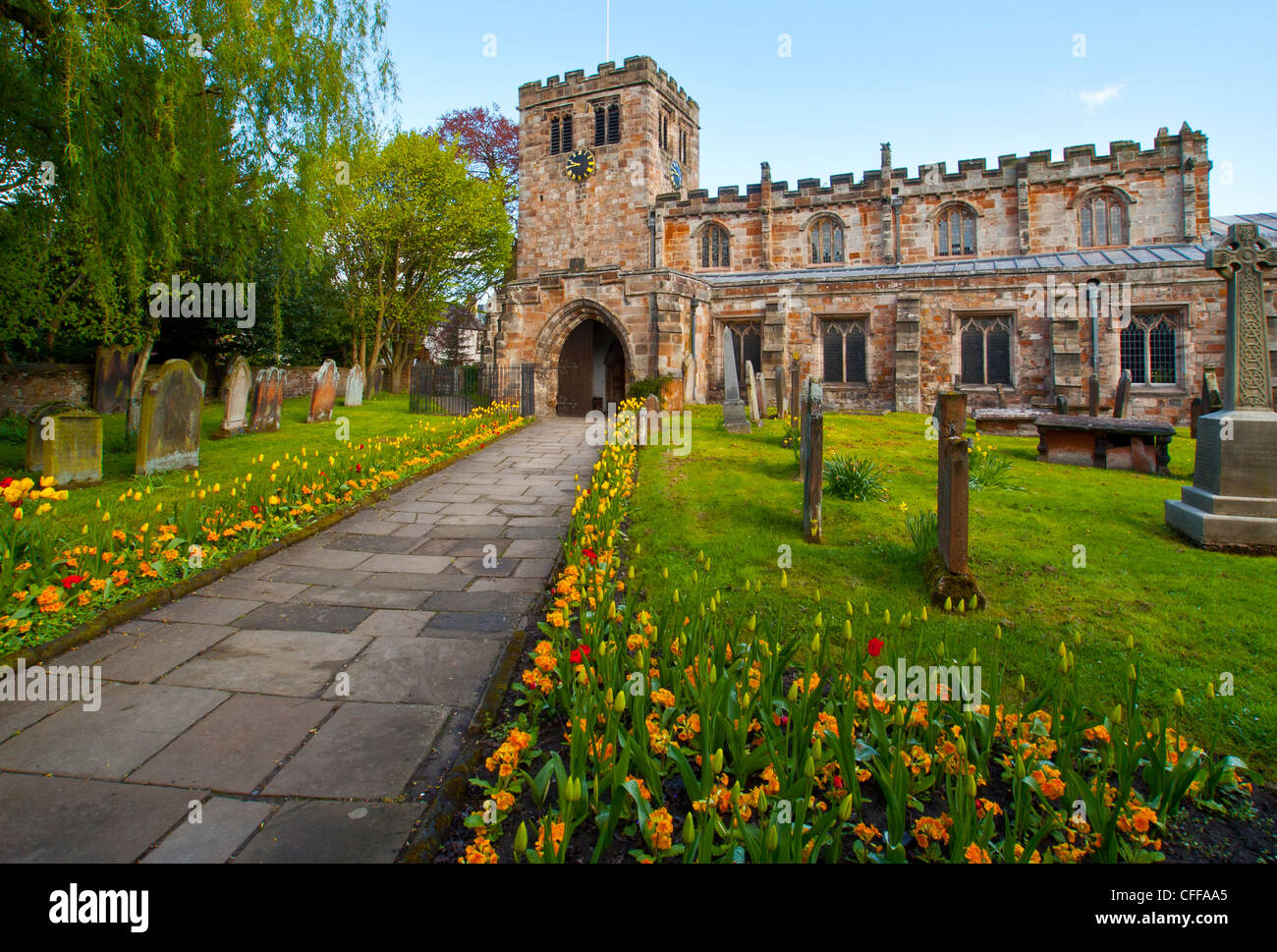 St Lawrence's Church Appleby Cumbria - Stock Image