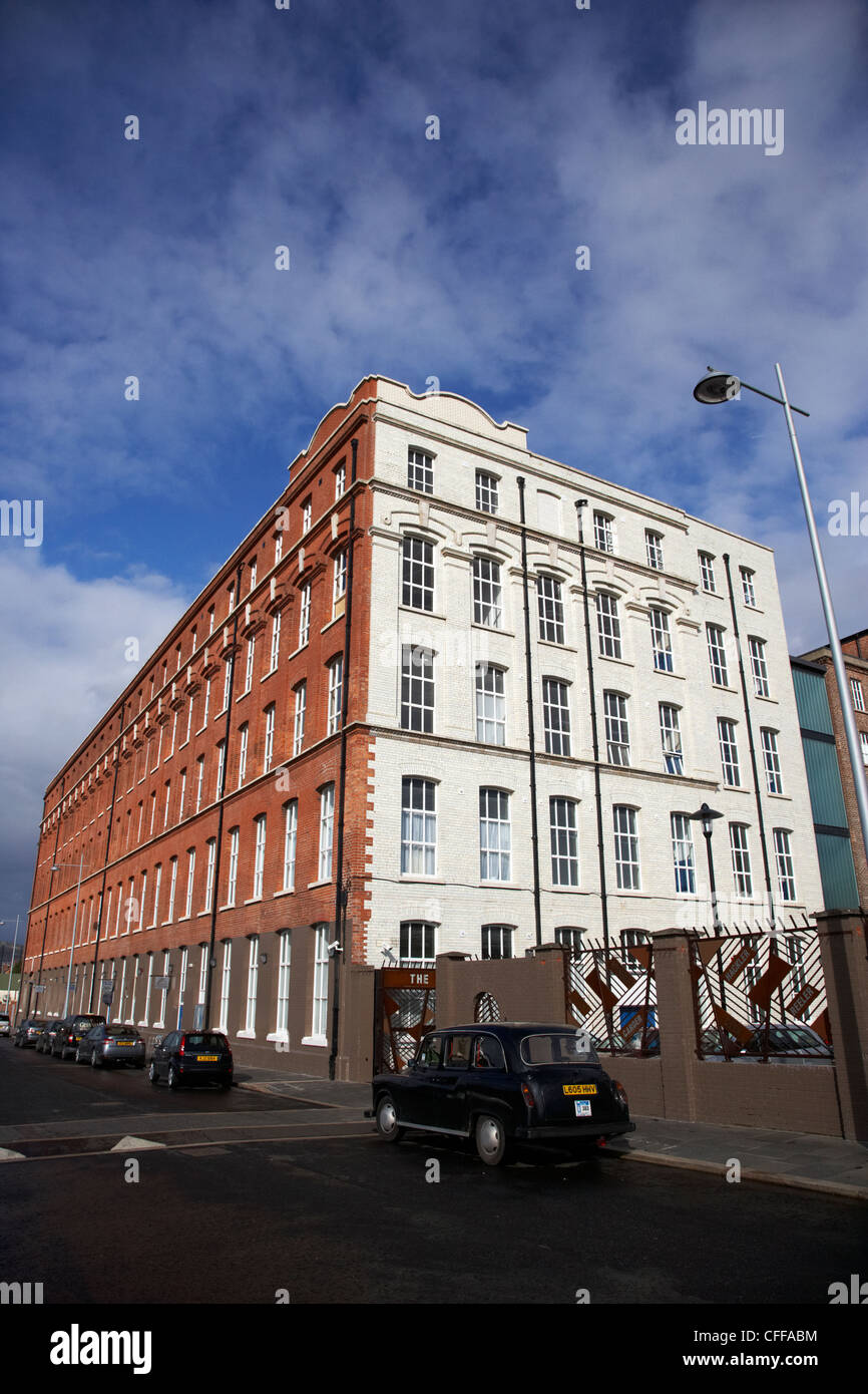 Conway Mill former linen mill Kennedy's flax spinners Belfast Northern Ireland UK - Stock Image
