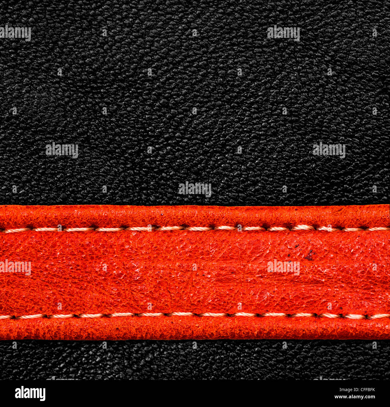 A brown leather texture. high resolution. - Stock Image