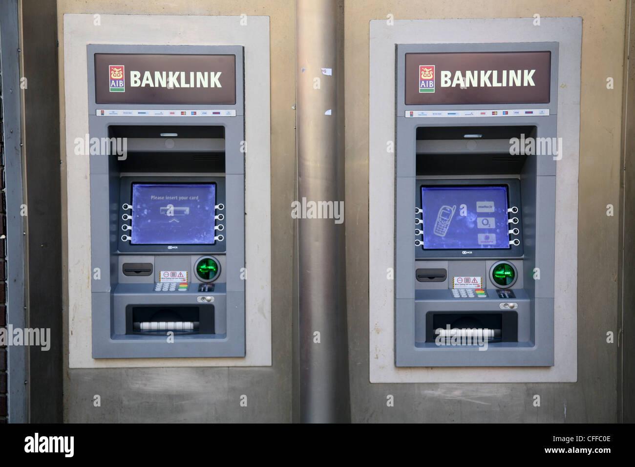 Aib Banklink Atm Machines In Temple Bar Dublin Ireland