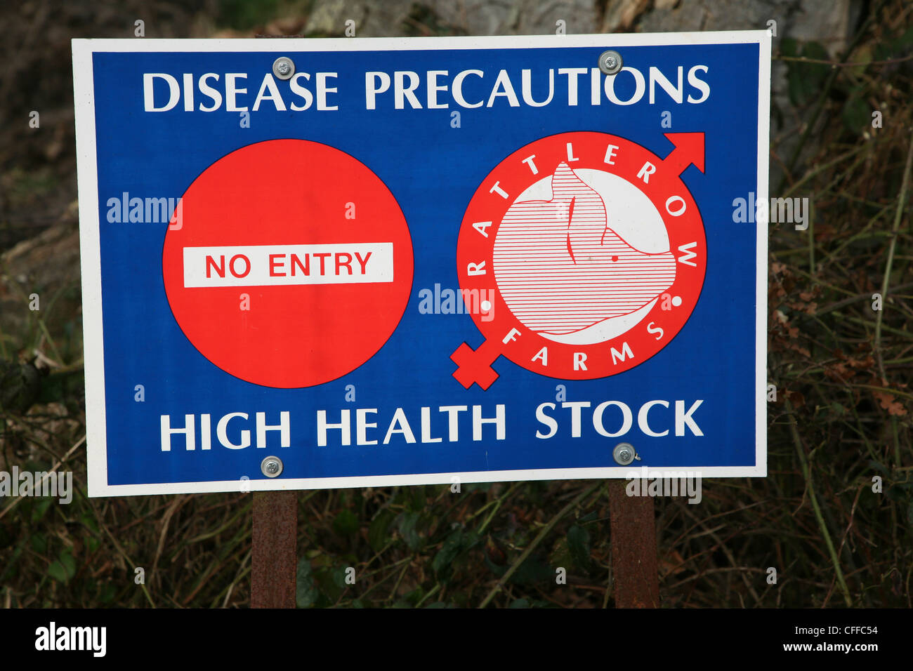 Disease precautions high health stock no entry sign close up - Stock Image