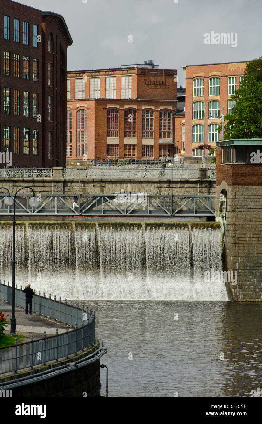 The Tammerkoski rapids at Tampere (Tammerfors) Finland. Stock Photo