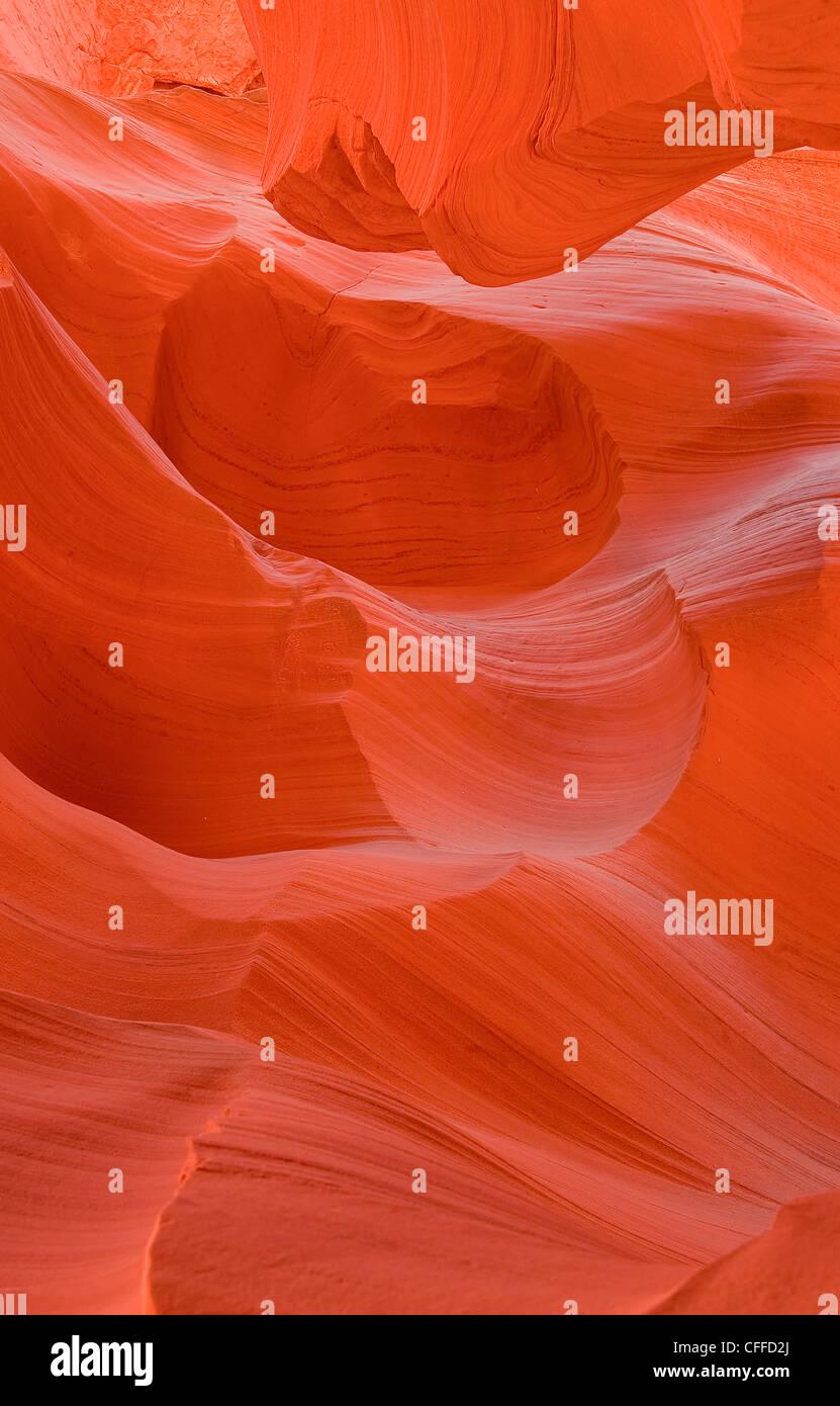 Weathered sandstone in slot canyon, AZ Stock Photo
