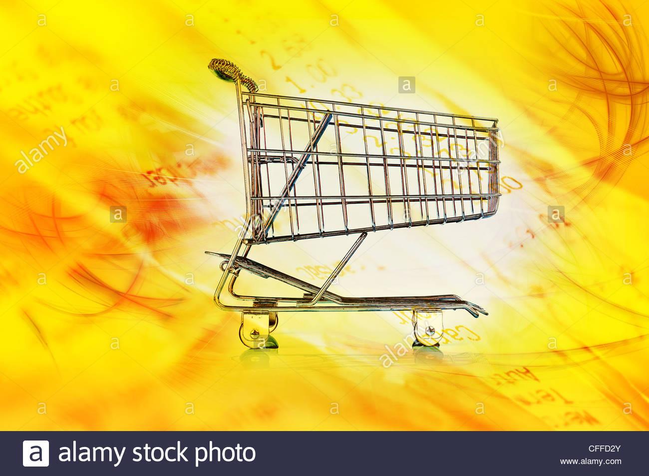 shopping cart image Stock Photo