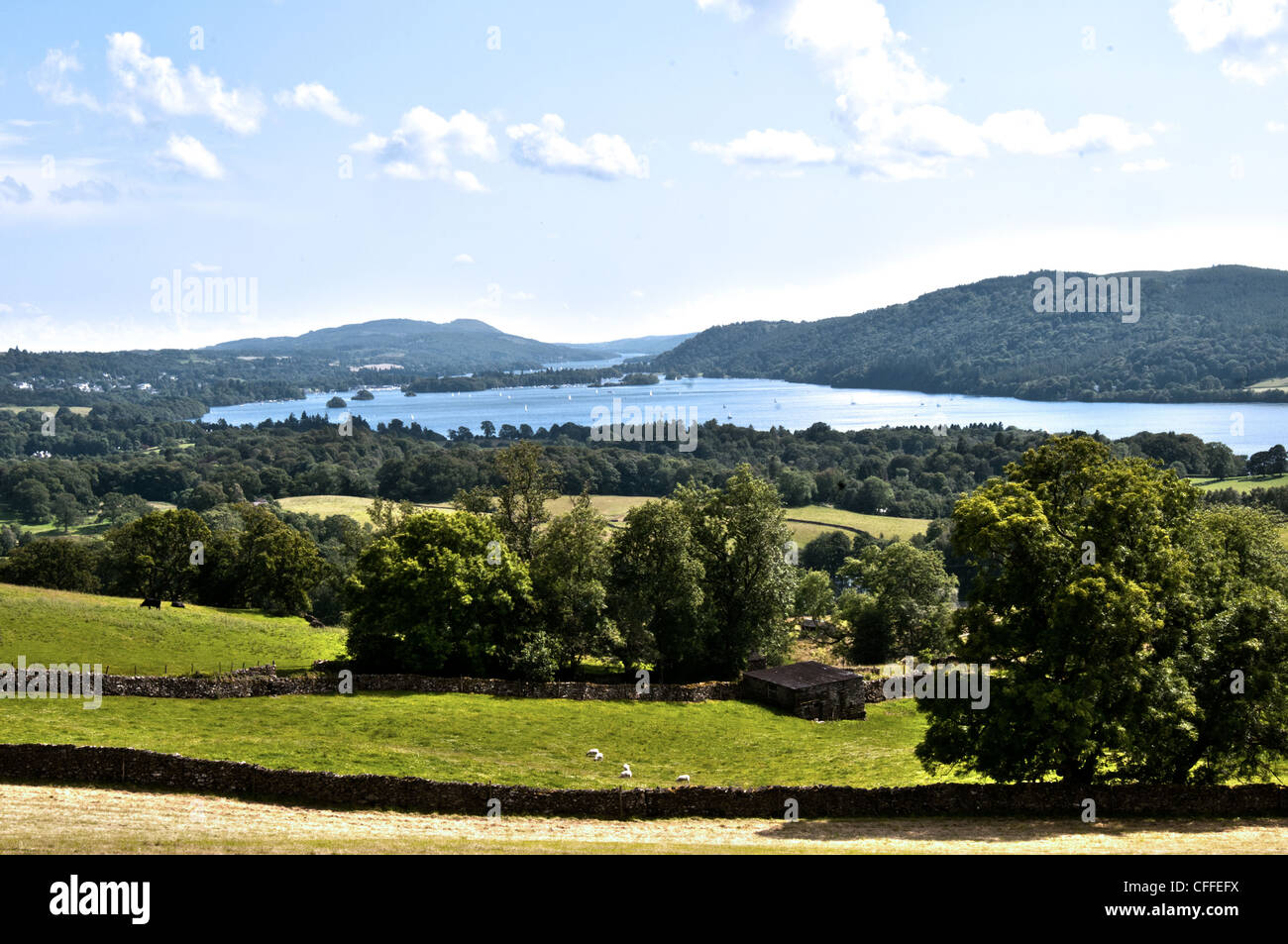 lake district windermere - Stock Image