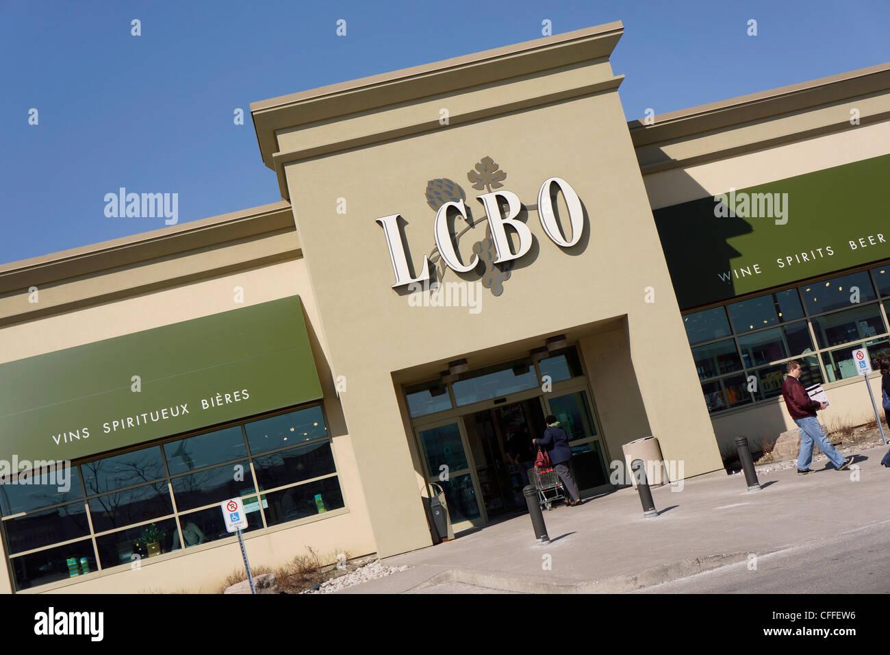 LCBO, Liquor Control Board of Ontario - Stock Image