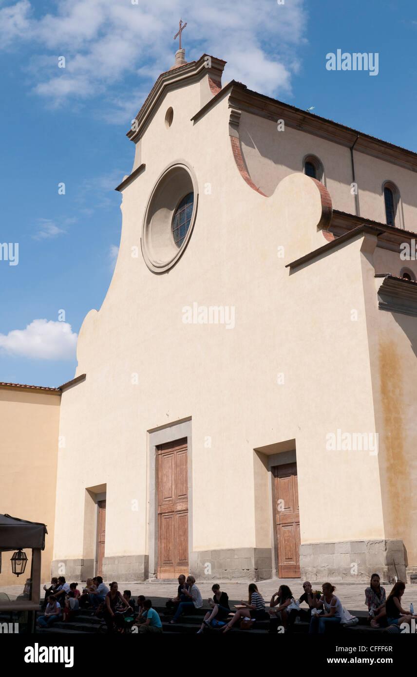 Church Santo Spirito, Piazza Santo Spirito, Florence, Tuscany, Italy - Stock Image