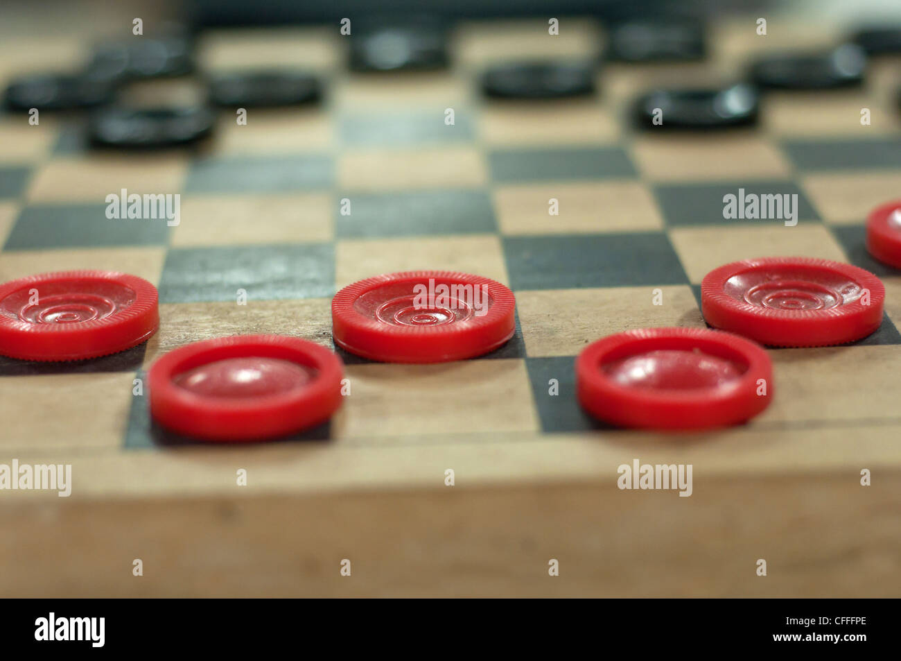 Evinston Florida inside the Wood & Swink country store & oldest US Post Office in Florida a game of checkers - Stock Image