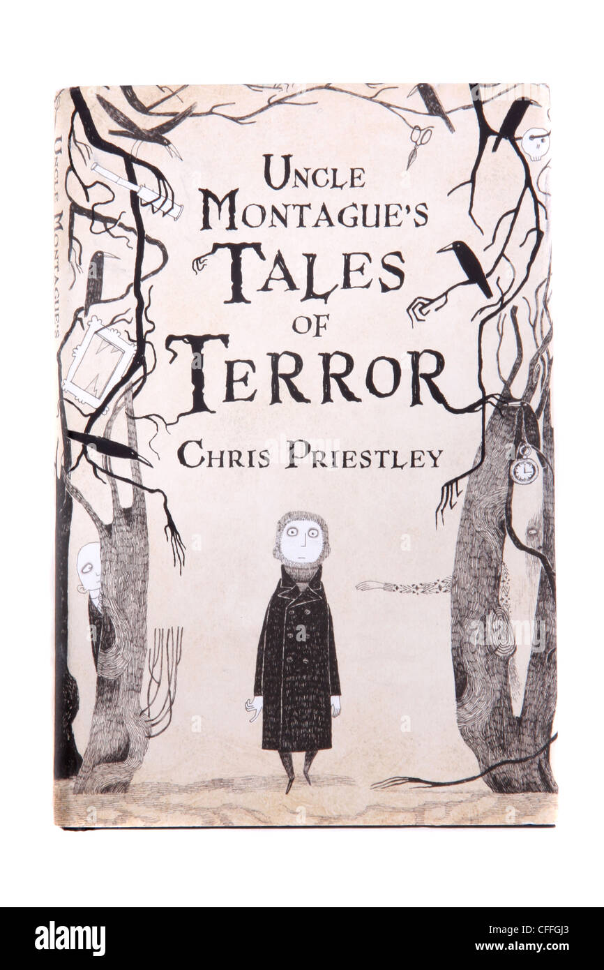 A classic novel by Chris Priestley  'Uncle Montague's Tales of Terror.' - Stock Image
