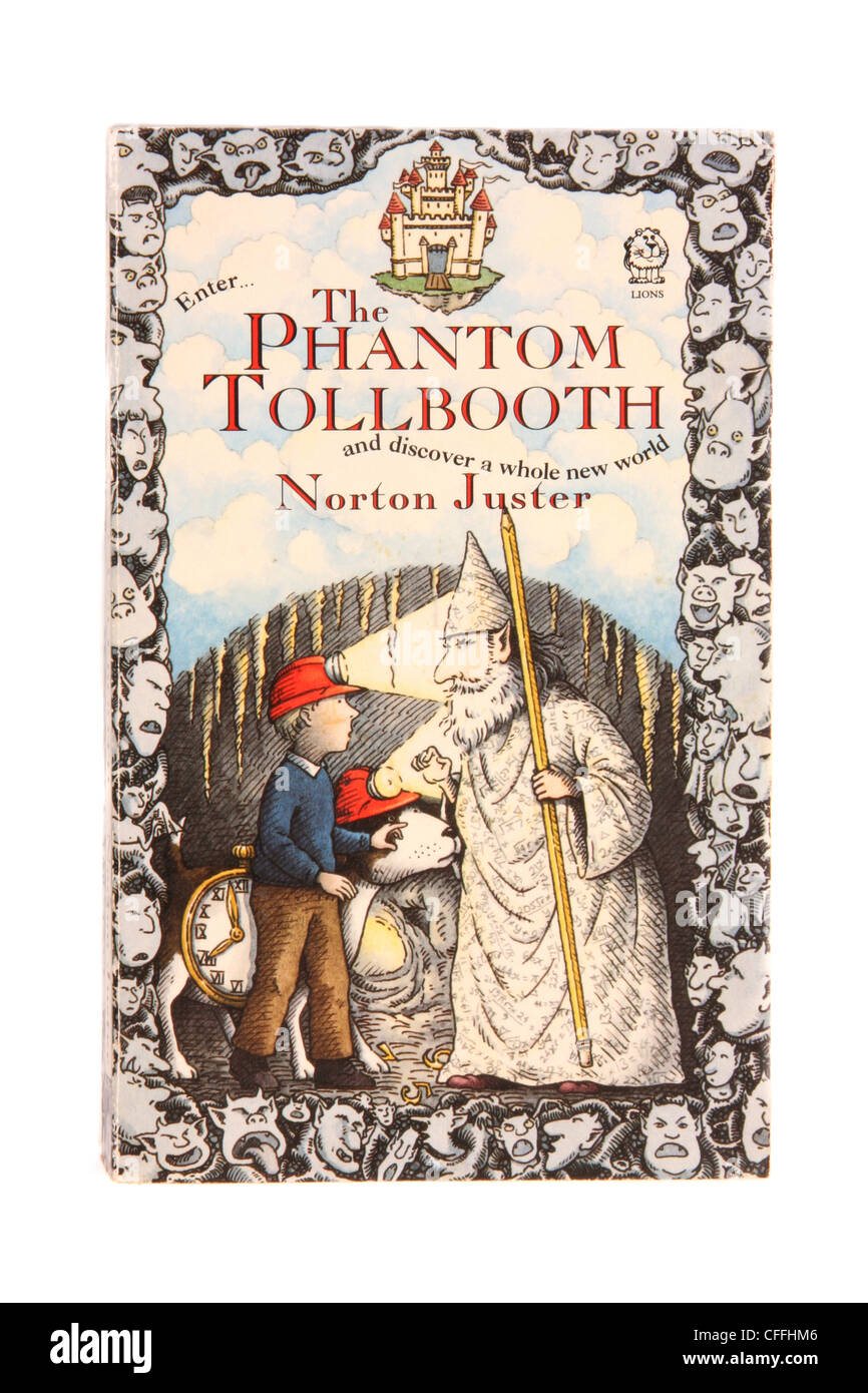 A classic novel by Norton Juster 'The Phantom Tollbooth.' - Stock Image