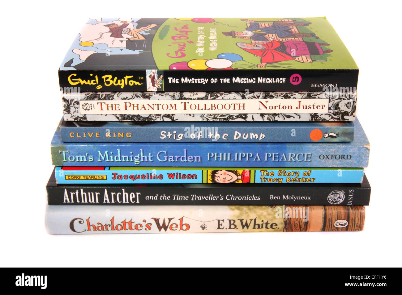 A selection of children's books. - Stock Image