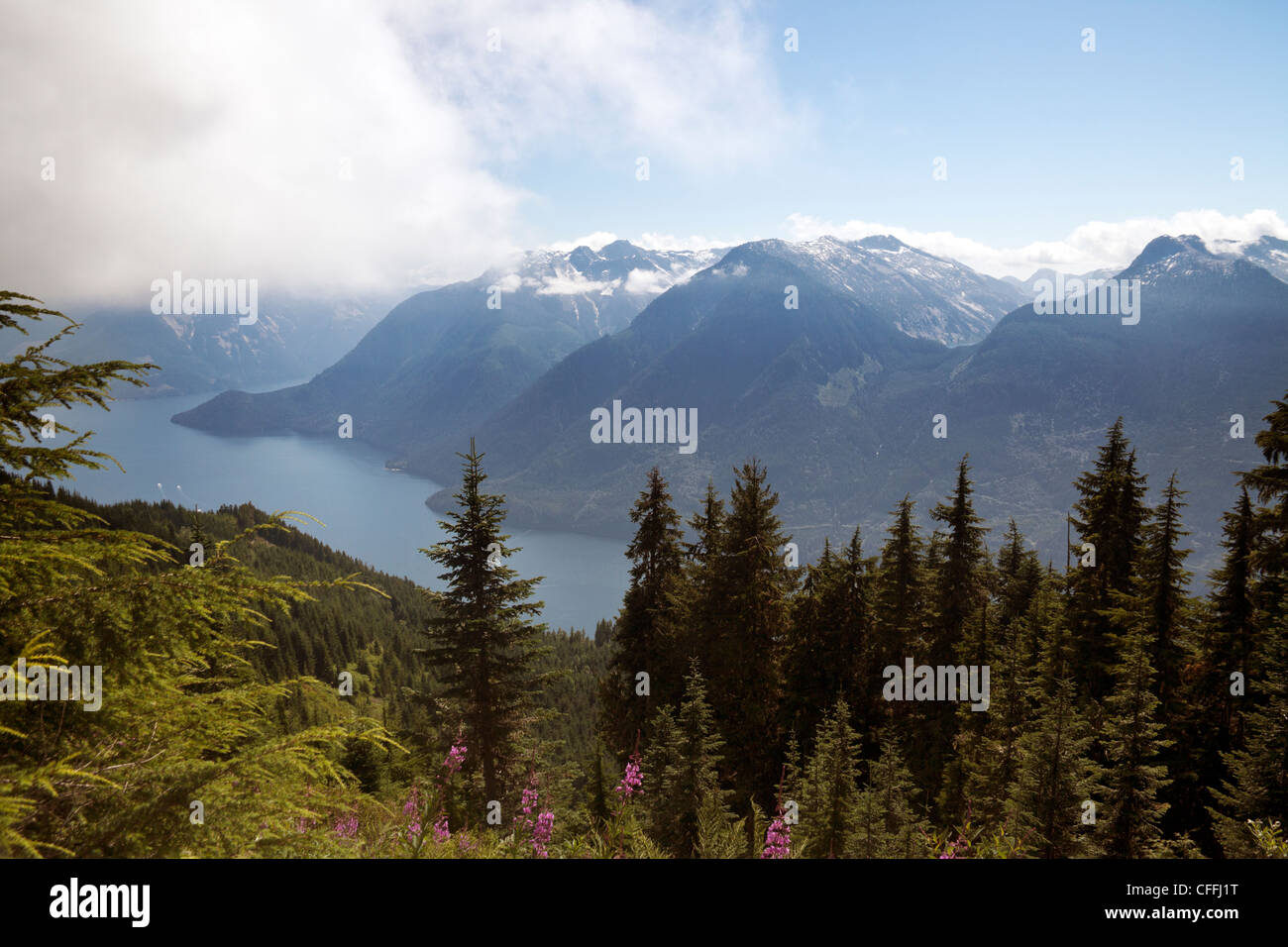 Views of the Jervis Inlet on a summer day. - Stock Image