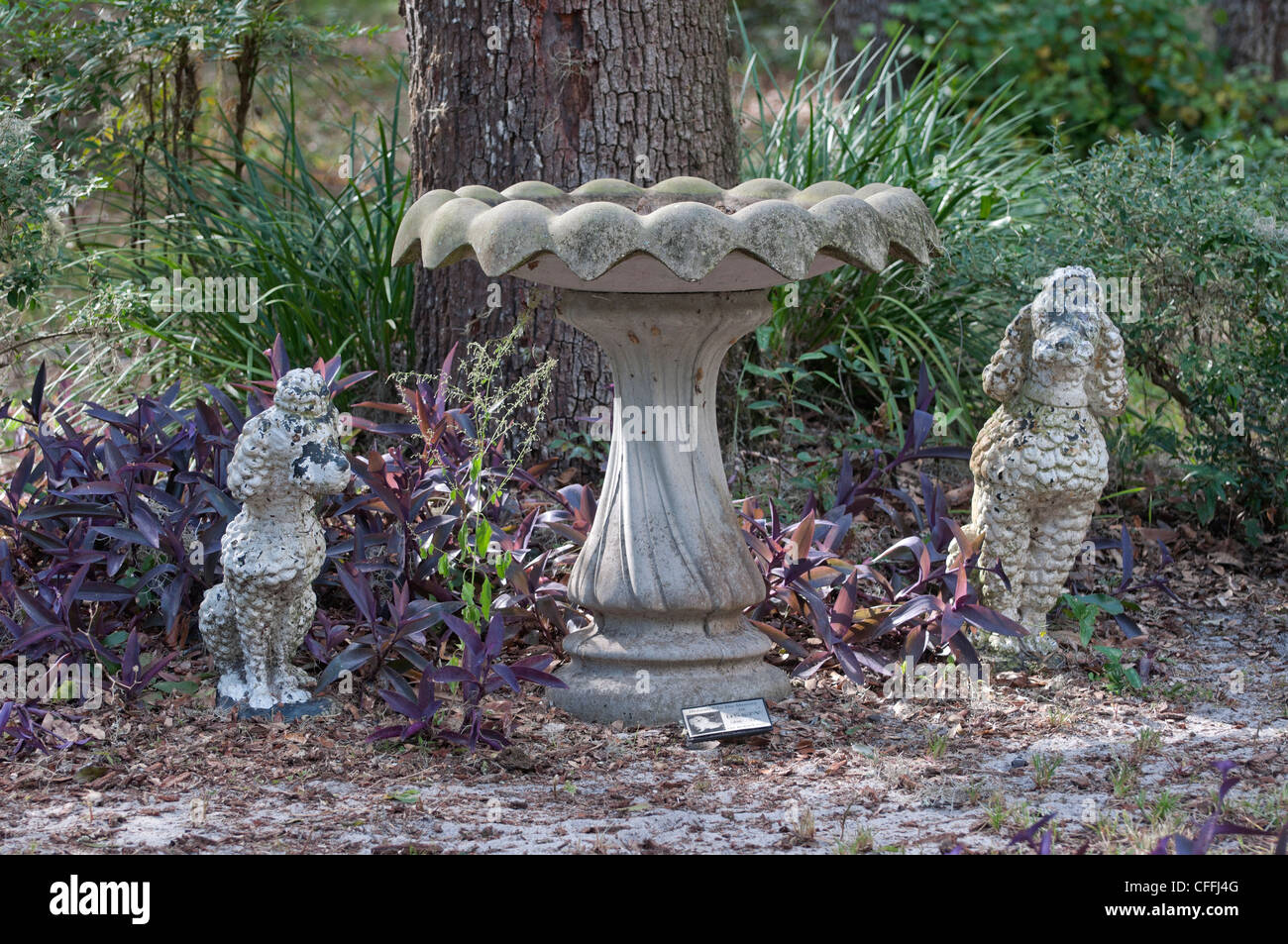 The Garden of Love pet memorial park and cemetery in Micanopy, Florida. Stock Photo