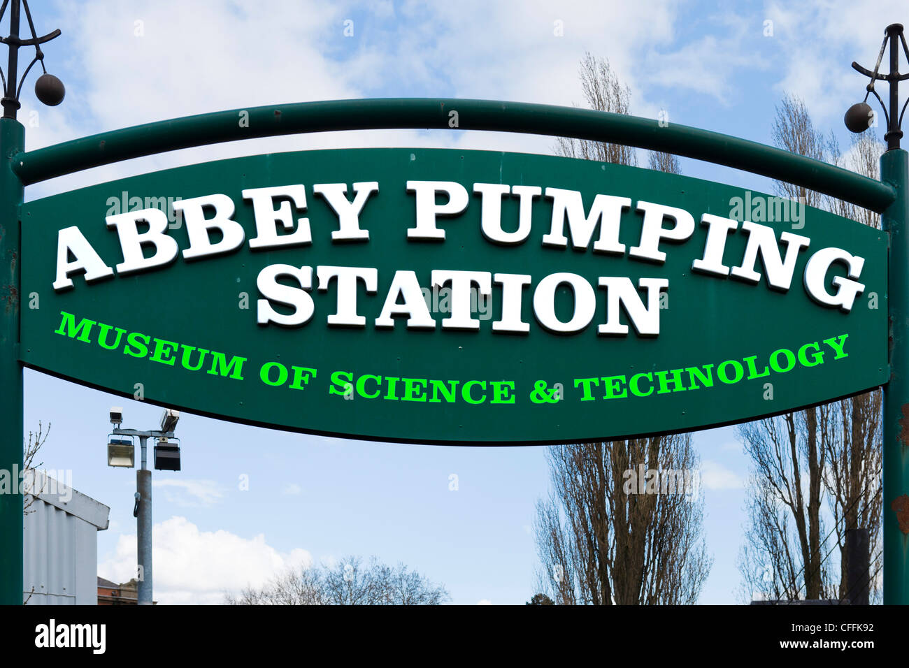 Entrance to the Abbey Pumping Station museum, Leicester, Leicestershire, England, UK - Stock Image