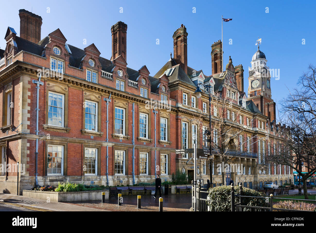 The Town Hall, Town Hall Square, Leicester, Leicestershire, England, UK - Stock Image