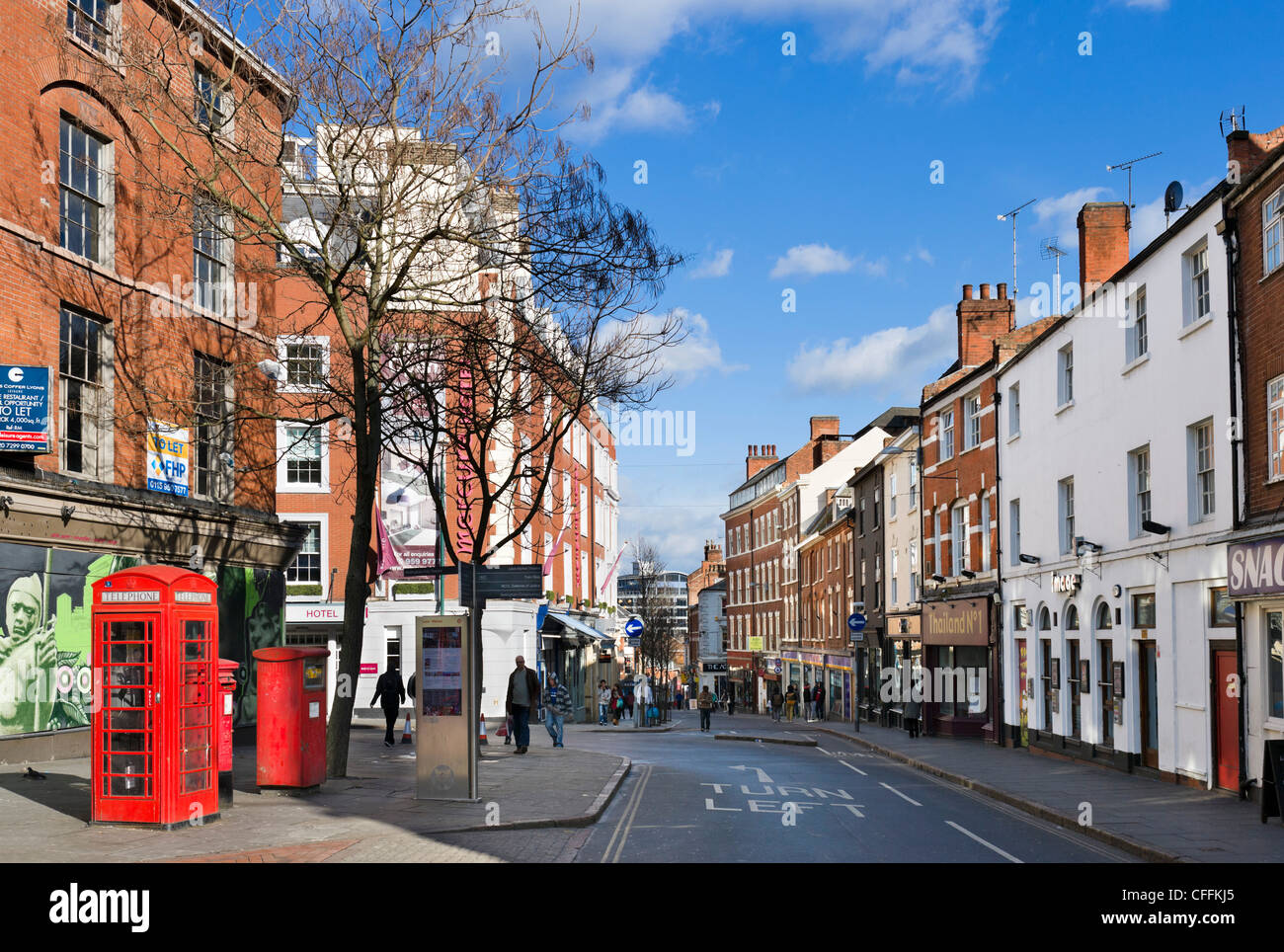 Carlton Street in the Lace Market district, Nottingham, Nottinghamshire, England, UK - Stock Image