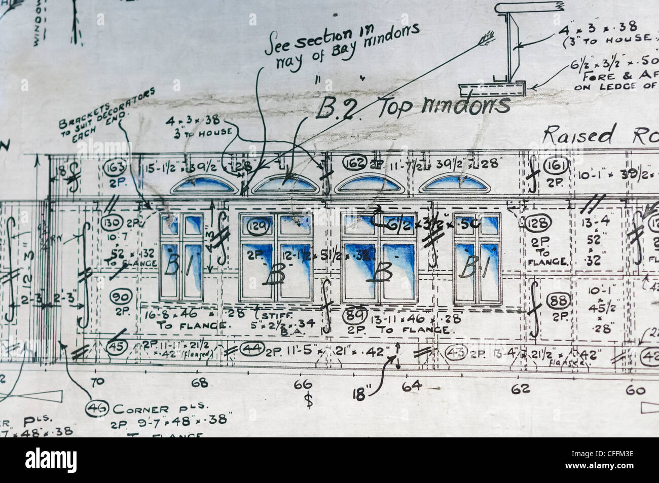 Original engineering drawing plans of the promenade deck for Drawing deck plans