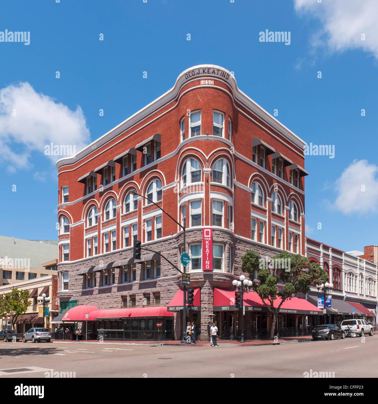 Keating Hotel, San Diego - Stock Image