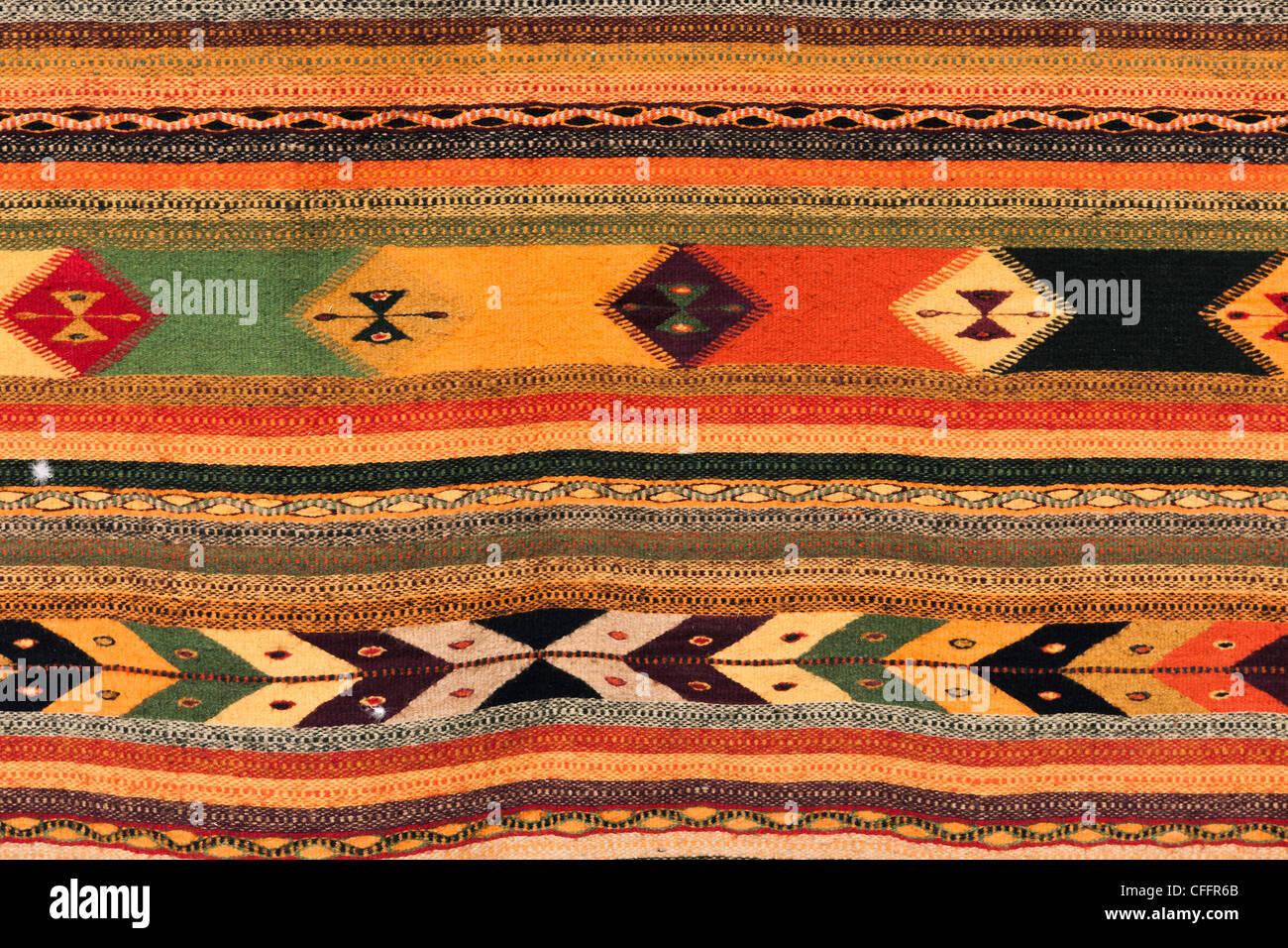 Native Indian rug - Stock Image