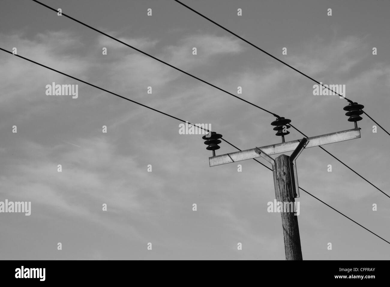 Telegraph Wires Against Sky Stock Photos & Telegraph Wires Against ...